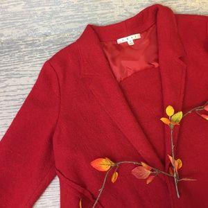 CAbi red cardigan style jacket